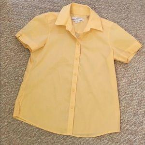 Vintage short sleeve yellow blouse